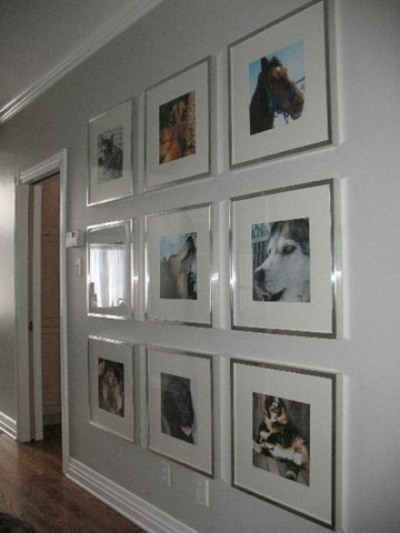 use michaels frames inexpensive i think they call them record album frames black white photos work great too you could even cut scrapbook paper - Michaels Picture Frames