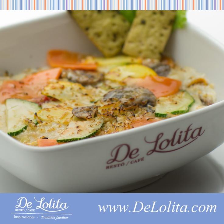 Deliciosa #Lasagna con #vegetales #MomentosDeLolita Conoce nuestra variedad de lasagnas en  http://www.delolita.com/momentos-de-lolita/almuerzos.html#lasagna