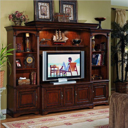 cool Hooker Furniturer Brookhaven Home Theater Group w/ 56 Inch Console
