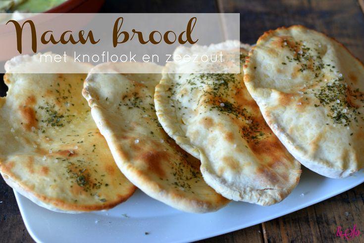 Naan brood met knoflook en zeezout // Recept Food & So Much More