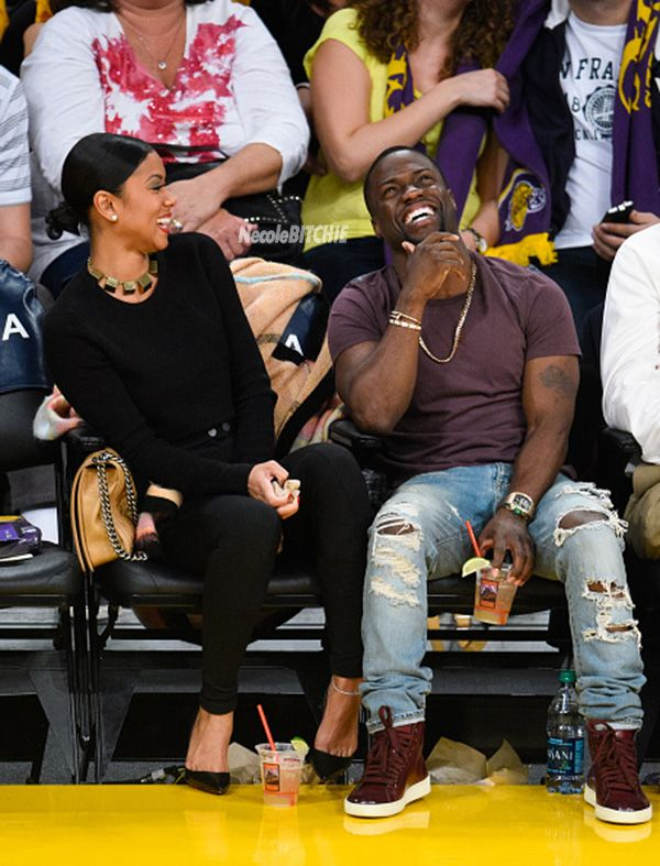 Kevin Hart And Eniko Parrish Caught On Kiss Cam At The Lakers Game | xoNECOLE