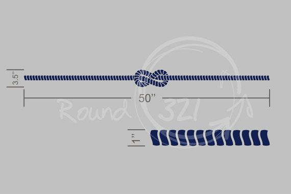 Strips Of Nautical Rope Wall Decal  Nautical by TheNauticalShop, $15.00