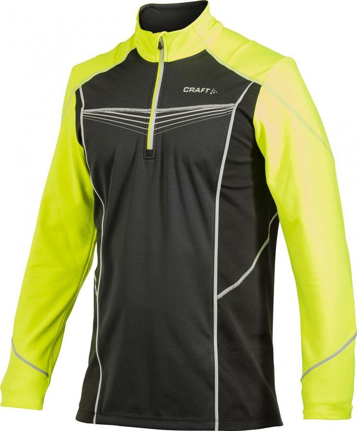Kurtka do biegania Craft PR Brilliant Wind Jacket M Black/yellow | MALL.PL