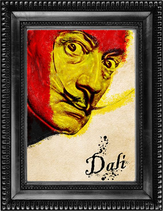Digital download of Salvador Dali  Download is 8 x 10 but is available in any size that you prefer at no additional cost.  8 x 10 image is