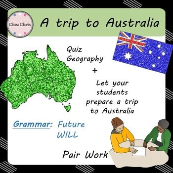 Embark with us on a trip to Australia!Engage your students, right from the beginning with a little quiz and have them learn, step by step, about Australia: the geography the flagEngaging activity: your students' mission is to prepare a trip to Australia.