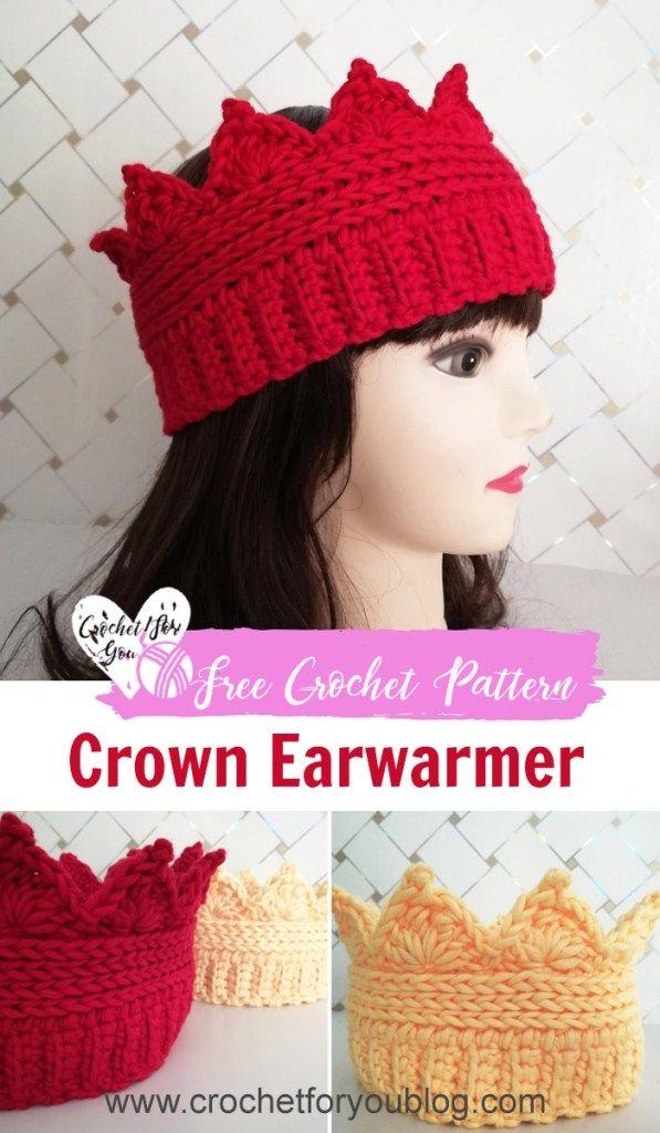 3fd07e7ab77 Crochet Crown Ear warmer Free Pattern