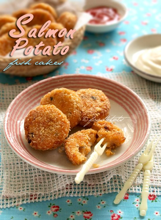 Salmon Potato Fish Cakes - baked not fried, great kid-friendly finger food