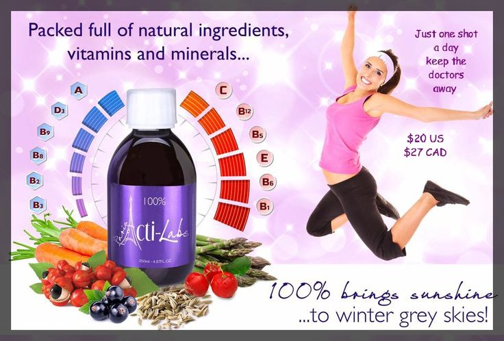 Get your RDA of Vitamins and Minerals all in one shot 100%  $27.00 CAD