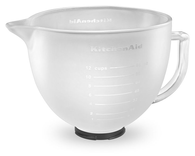 Kitchenaid k5gbf tilthead frosted glass bowl with
