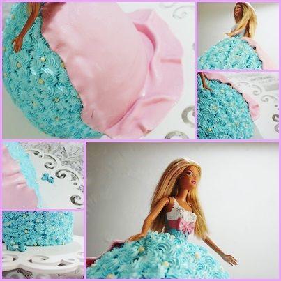 bolo escultural princesa - chantily e pasta americana