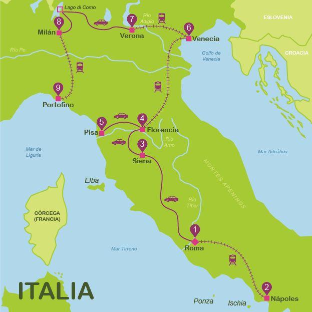 Lugares turisticos Italia | Mejor ruta Italia por libre 17 dias | Way Away