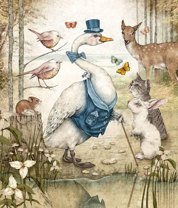 Old Fairy Tale Illustrations | Fairy Tales Illustrations by Julian De Narvaez | justinlovewithberni
