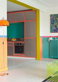 #Modern style home with #neon colors that add life and fun to anyone's day