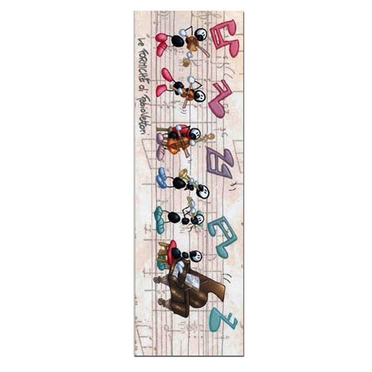 Segnalibro in carta FV01-06 | Le Formiche di Fabio Vettori #segnalibro #book #libro #formiche #gift #leggere #strumentimusicali #music #musica #orchestra