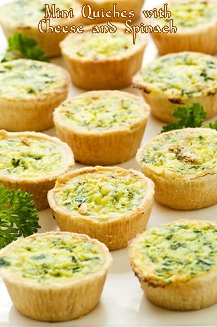 Mini-quiches, Quiche and Appetithappen on Pinterest