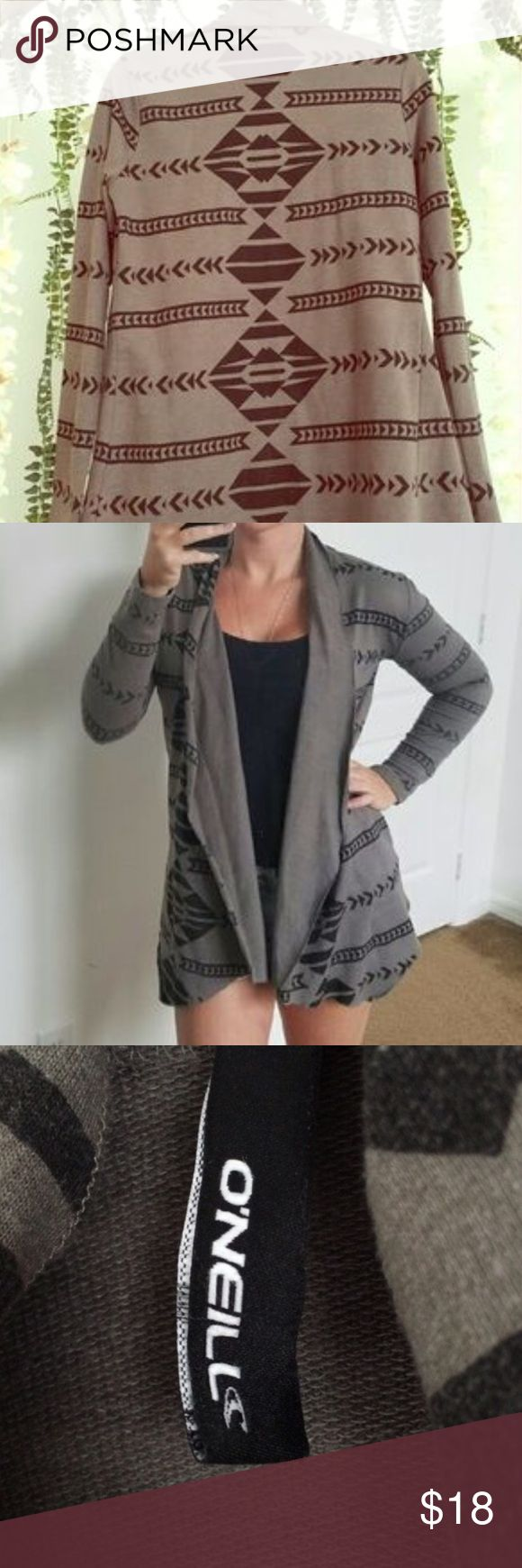 O'Neill Tribal Cardigan Perfect for the fall season! This black and grey tribal cardigan made by O'Neill is the perfect addition to any closet. Light weight, soft, and comfortable. Lightly worn and in perfect condition. Make an offer! O'Neill Sweaters Cardigans