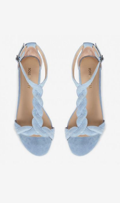 A definite staple for this season, long into September! Ellinor sandals in Aquatic Blue//