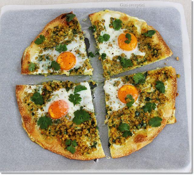 Gizi-receptjei.  Várok mindenkit.: Vöröslencsés-tojásos lepény