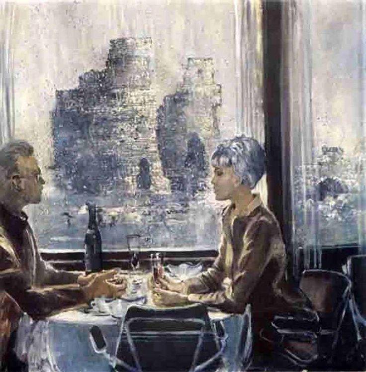 Юрий Пименов. Калининград. Дождь. 1968.