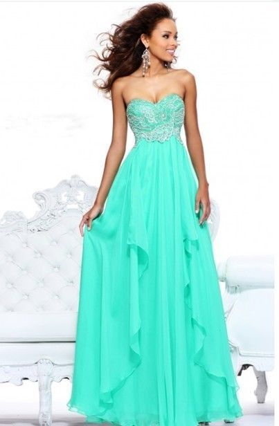 2014 Handmade Sequins Long Wedding Party Gown Formal Ball Evening Prom Dresses #Handmade #BallGown #Formal