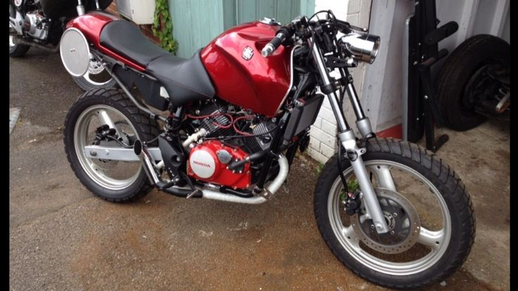 Cafe Racer Project Finished 99 Mint Varadero 125 Candy Apple RED | eBay