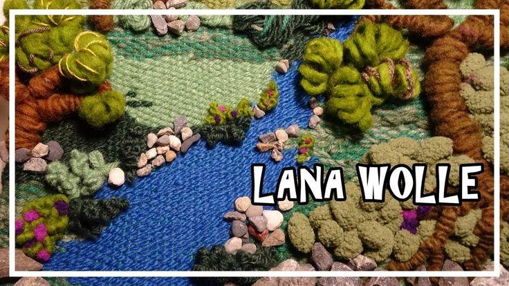 TELAR DECORATIVO PAISAJE. TAPIZ 3D. Wall hanging. Wandteppich. Lana Wolle