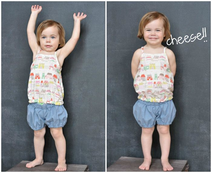 I obviously NEED to make these shorts! I am thinking with some Heather Ross Briar Rose. Going to be too cute! sewing: bubble shorts tutorial and Hosh Pants || imagine gnats