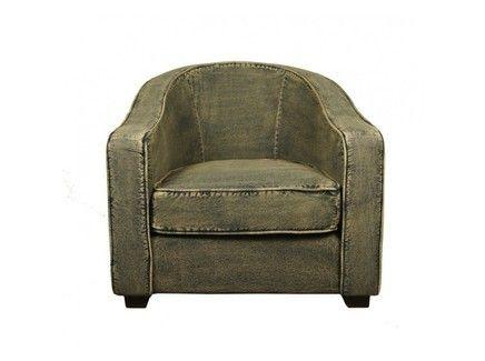 Кресло в состаренном чехле из «джинсы». Прекрасное дополнение для интерьеров в стиле индустриального лофта или винтаж