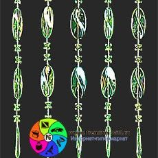 Декоративные занавески HD00003 - Green color plastic beads curtain