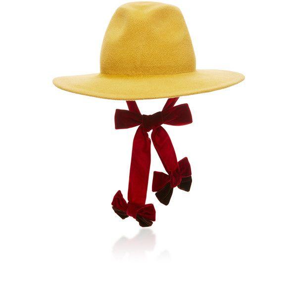 Luigi Hat   Moda Operandi ($475) ❤ liked on Polyvore featuring accessories, hats, block hats, fedora hat and velvet hat