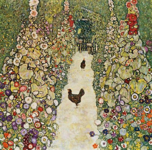 Garden Path with Hens, 1916Gustav Klimt