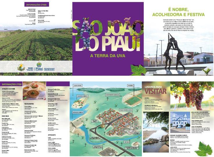 Folder VI Festival da Uva São João do Piauí / Cliente Gov. do Piauí