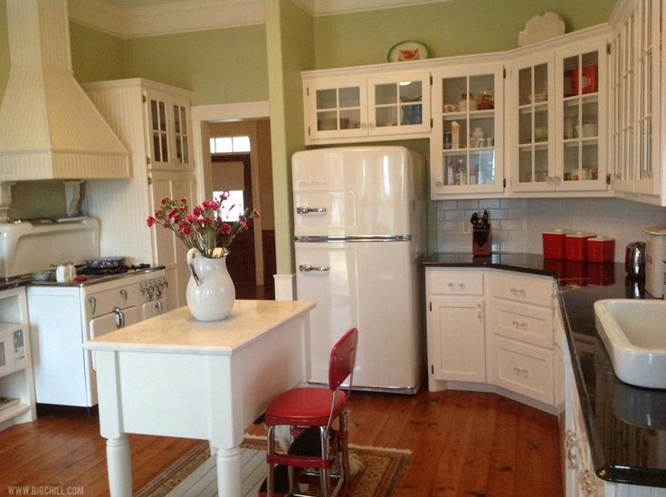 Big Chill Fridge In Vintage Inspired Kitchen