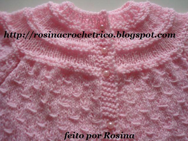 ROSINA CROCHE TRICO: CASAQUINHO DE BEBE EM TRICO COM RECEITA