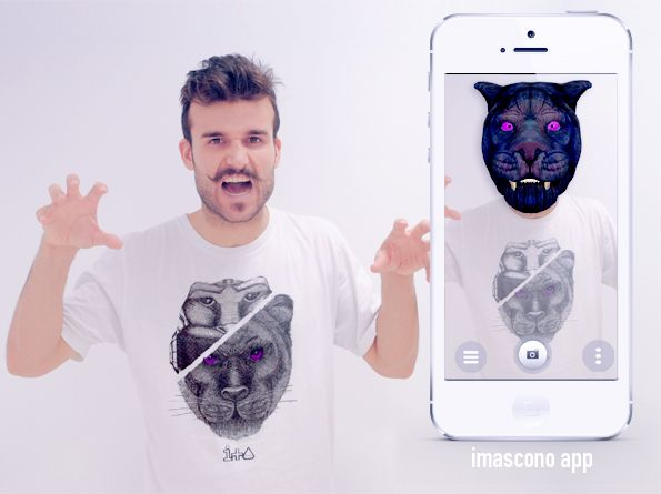 IMASCONO #augmentedreality experience. #Fashion collection: Be a hero. 3D Experience: Panther be animal