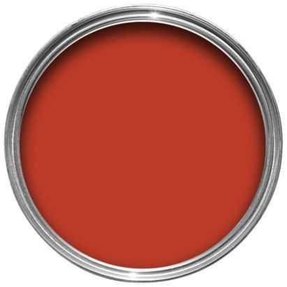 Dulux Once Matt Emulsion Roasted Red - kitchen with Tangerine Twist