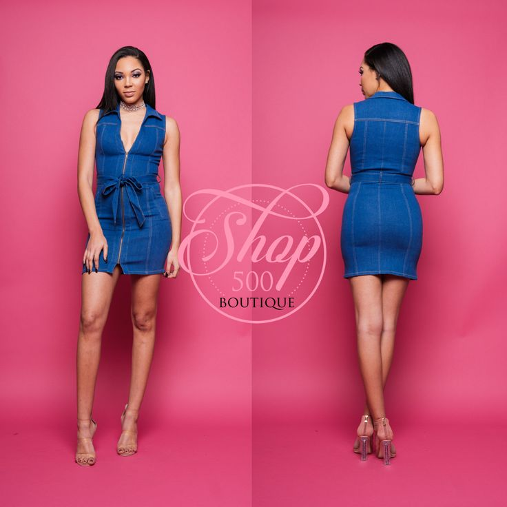 On the market, you will see women clothing like ladies denim jackets, denim jumpsuits and much other clothing made in denim can be purchased in the industry today. Find denim zip dress at Shop500Boutique. View our denim zip dress and shop our selection of designer women's plus size dresses, clothing and fashionable accessories. We offer a collection of lifestyle apparel and premium denim for women now. Check out our collection of lifestyle apparel and high quality denim for women now.