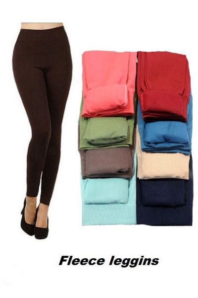 Super soft, very stretchy and stylish fleece leggings… looks regular sleek legging but inside is soft and cozy fleece that keeps you warm and comfy… stretch & comfortable waistband... this legging is