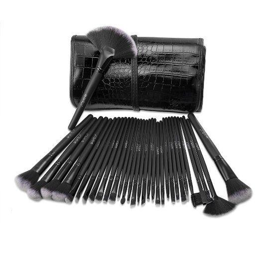 Pennelli Make Up USpicy Kit Pennelli Cosmetici Trucco spazzola professionale a 32 pezzi. Brushs per Ombretto, Make Up Set con borsetta da viaggio, Regalo