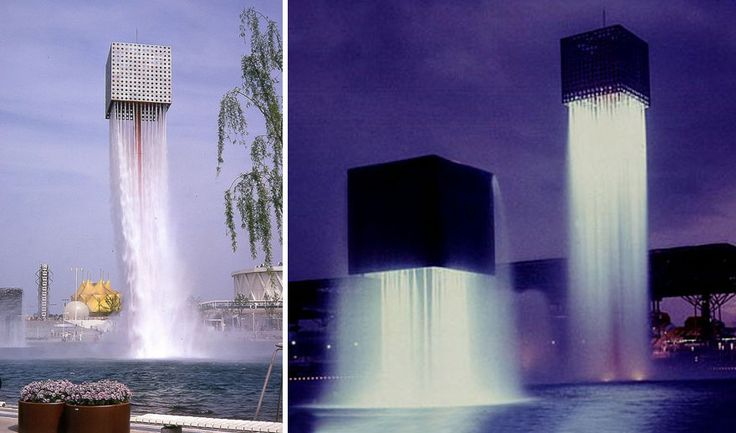 The Nine Floating Fountains are Japanese American artist and landscape architect Isamu Noguchi's creation for the World Expo held in Osaka, Japan in 1970. These incredible fountains look as if they're flying, and even though these fountains were built over 40 years ago, they are still as fascinating to behold as they were back then.
