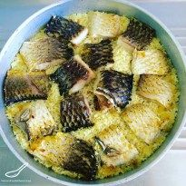 Rustic, real, simple and easy to make One Pot fish meal. Also known as Pot Rice or Baked Rice - Macedonian Fish with Rice (Македонски риба со ориз)