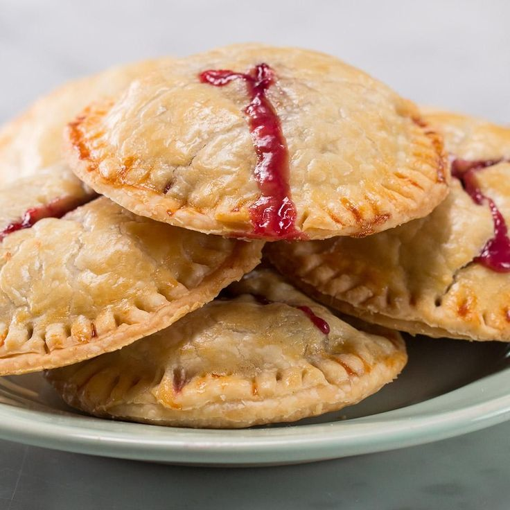 4 Ingredient Berries & Cream Hand Pies by Tasty