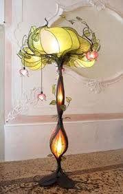 Exquisite art nouveau lamp