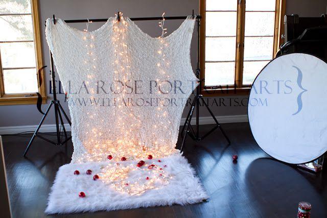 Baby Christmas photo setup idea.... Oh ya!