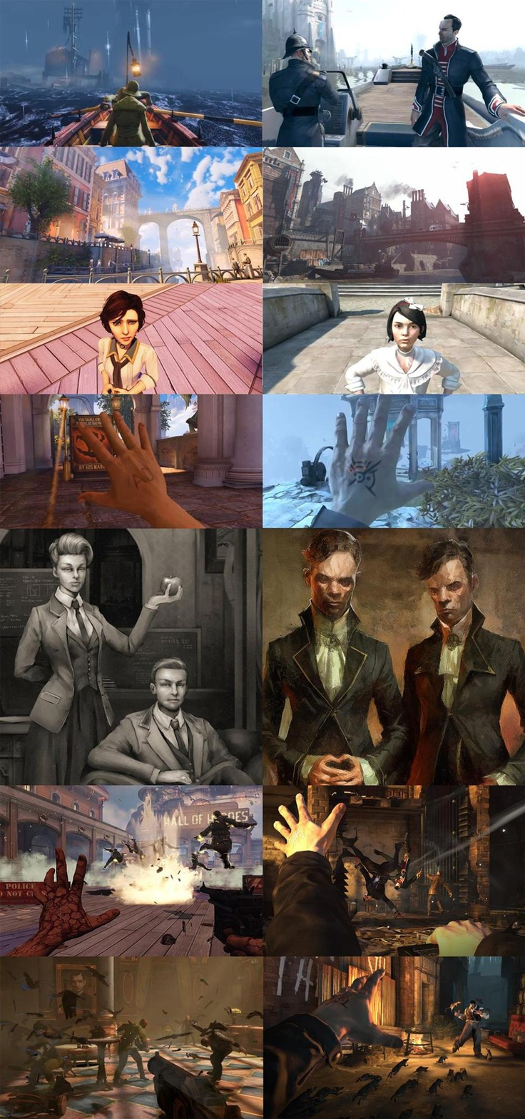 BioShock Infinite and Dishonored: not so different after all...