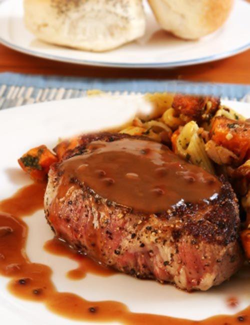 Steak au Poivre from Julia Child and Jacques Pépin