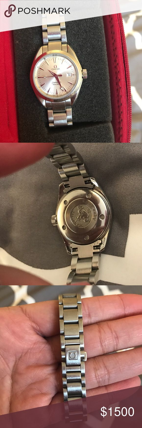 ✅SALE✅ Authentic Omega Ladies Watch I just recently had this checked by my local jeweler in California (10/7/17). The battery was newly replaced because the previous one installed was weak. Good working condition. Can provide a video via email or text with current date to show the movement. Very classy piece. Trade value higher. Comes with Omega red watch case. Omega Accessories Watches