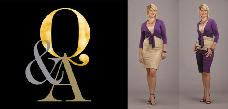There is no question that the outfit on the right is so much better; the correct fit is all important!