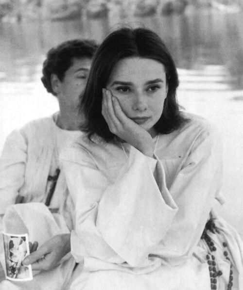 Audrey Hepburn on set of The Nuns Story 1958