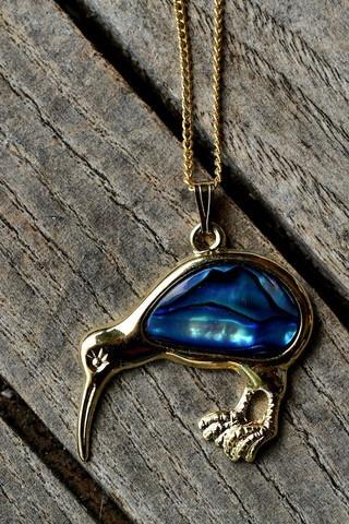 VIDA Short Pendant - blue/yellow macaw pendant by VIDA lLzoQ6Gu
